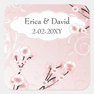 pink cherry blossom envelopes seals
