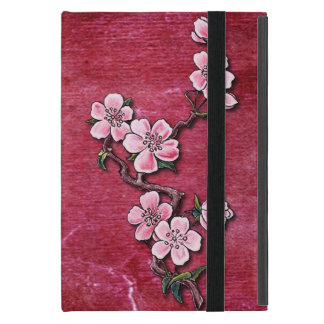 Pink Cherry Blossom Floral Tattoo Design iPad Mini Case