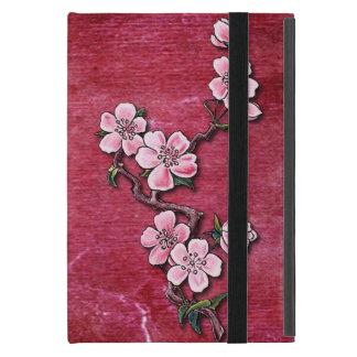 Pink Cherry Blossom Floral Tattoo Design iPad Mini Covers