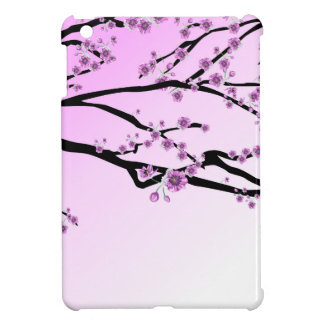 Pink Cherry Blossom Flowers Cover For The iPad Mini