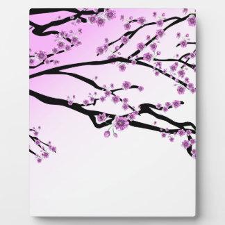 Pink Cherry Blossom Flowers Plaque
