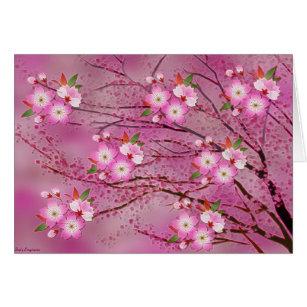 Pink Cherry Blossom Origami Art