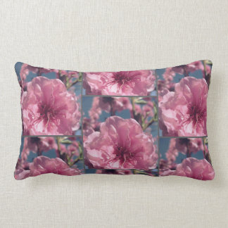 Pink cherry blossom pattern lumbar cushion