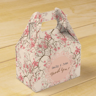 Pink Cherry Blossom Personalized Gable Box