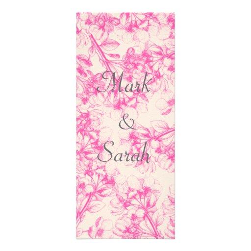 Pink Cherry Blossom Tall Invitation