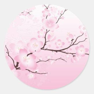 Pink Cherry Blossom Wedding Stickers