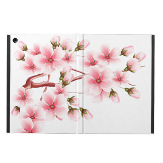 Pink Cherry blossoms om white Case For iPad Air