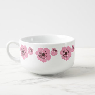 Pink Cherry Blossoms Soup Mug