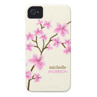 Pink Cherry Blossoms Tree iPhone 4 Case-Mate Cases