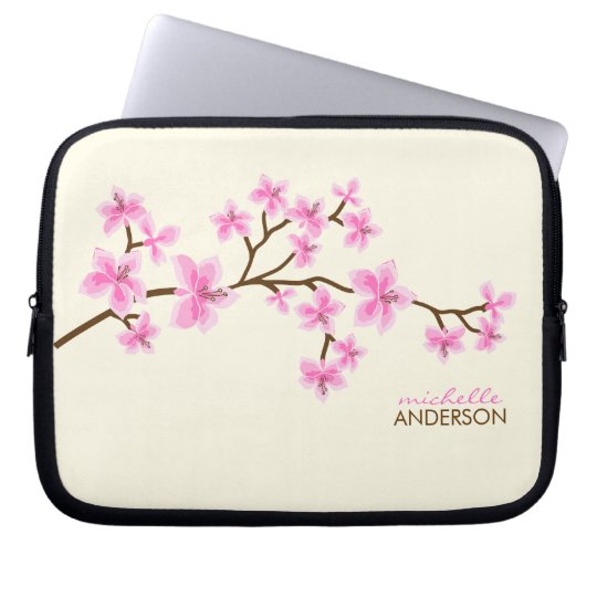 Pink Cherry Blossoms Tree Laptop Sleeve