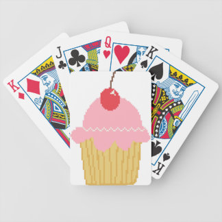 pink cherry cupcake bicycle poker deck
