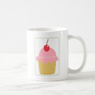 pink cherry cupcake coffee mug