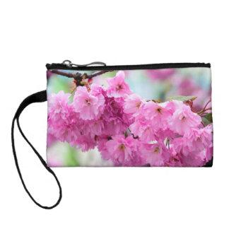 Pink Cherry Sakura Tree Change Purse