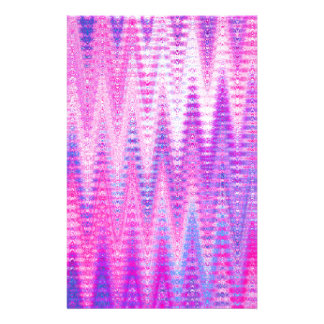 Pink Chevron Abstract Waves Pattern Personalised Stationery