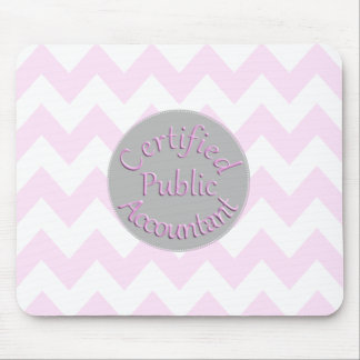 Pink Chevron CPA Mouse Pad