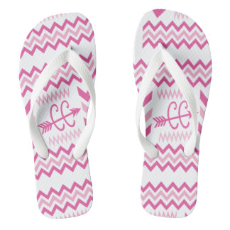Pink Chevron Cross Country Running XC Thongs