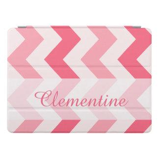 Pink Chevron Custom Name Template iPad Pro Cover