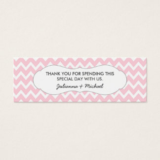 Pink Chevron Favor Tag / baby shower / wedding