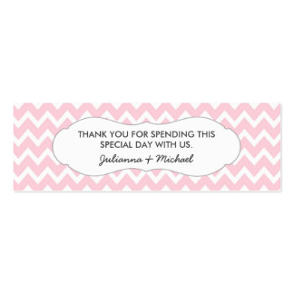 Pink Chevron Favor Tag / baby shower / wedding Pack Of Skinny Business Cards