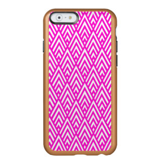 Pink Chevron Foil Pink and White Geometric Pattern Incipio Feather® Shine iPhone 6 Case