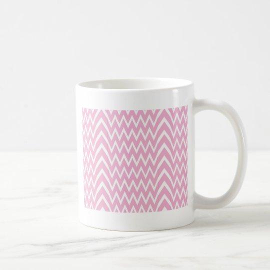 Pink Chevron Illusion Coffee Mug