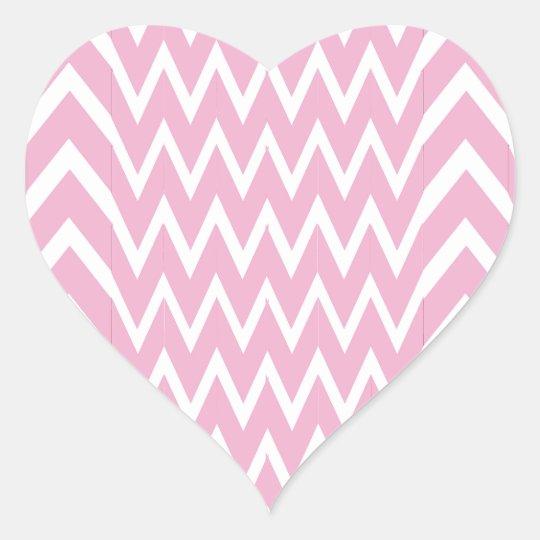 Pink Chevron Illusion Heart Sticker