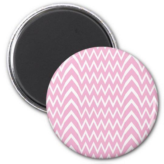 Pink Chevron Illusion Magnet
