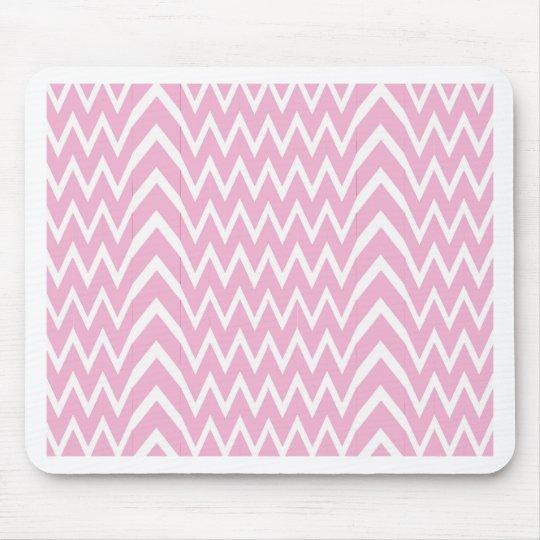 Pink Chevron Illusion Mouse Pad