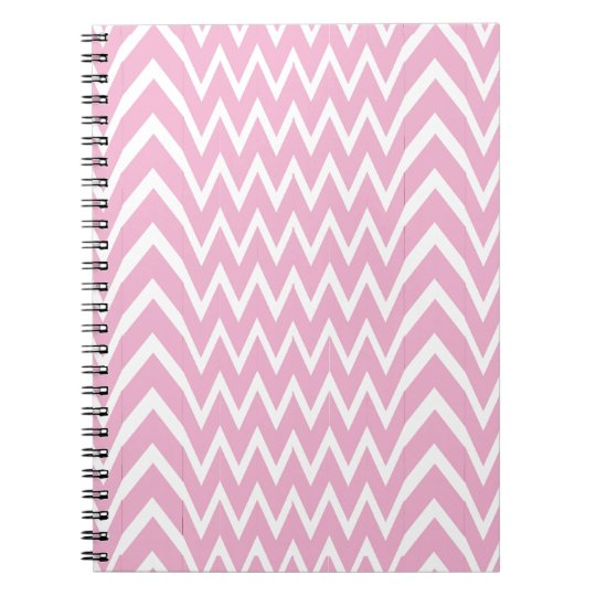 Pink Chevron Illusion Notebook