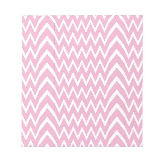 Pink Chevron Illusion Notepad
