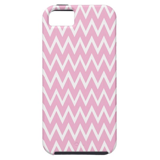 Pink Chevron Illusion Tough iPhone 5 Case