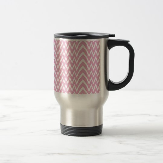 Pink Chevron Illusion Travel Mug