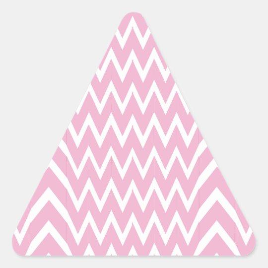 Pink Chevron Illusion Triangle Sticker