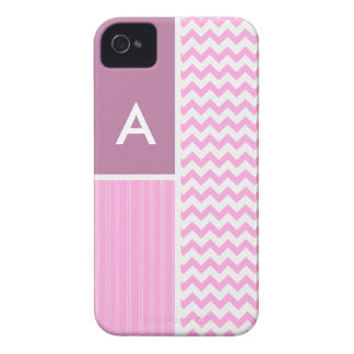 Pink Chevron Pattern Case-Mate iPhone 4 Case