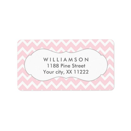pink chevron personalised party favour tags