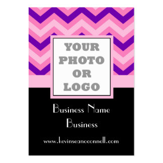 Pink chevron photo logo pack of chubby business cards