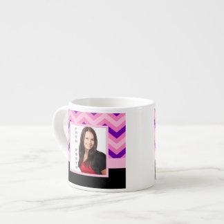 Pink chevron photo template