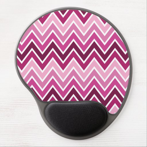 Pink Chevron Stripe Gel Mouse Mat