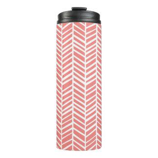 Pink Chevron Thermal Tumbler