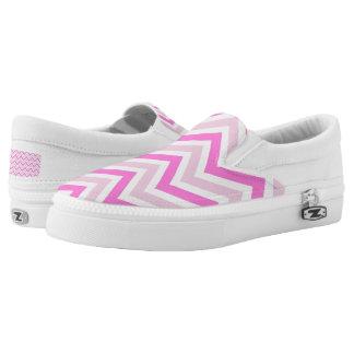 Pink Chevron Tile Slip-On Shoes