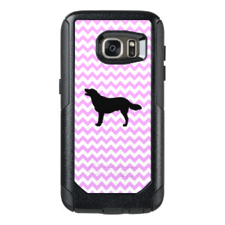 Pink Chevron With Golden Silhouette OtterBox Samsung Galaxy S7 Case