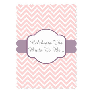 Pink Chevron With Heather Purple Cigar Band Design Card