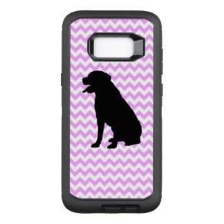 Pink Chevron With Lab Silhouette OtterBox Defender Samsung Galaxy S8+ Case