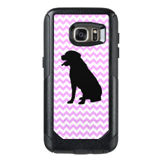 Pink Chevron With Lab Silhouette OtterBox Samsung Galaxy S7 Case