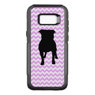 Pink Chevron With Pug Silhouette OtterBox Commuter Samsung Galaxy S8+ Case