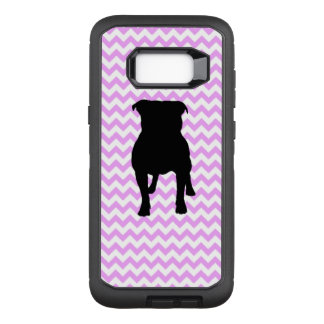 Pink Chevron With Pug Silhouette OtterBox Defender Samsung Galaxy S8+ Case