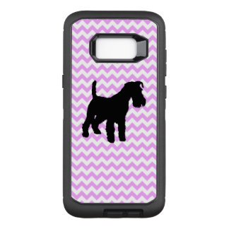 Pink Chevron With Schnauzer OtterBox Defender Samsung Galaxy S8+ Case