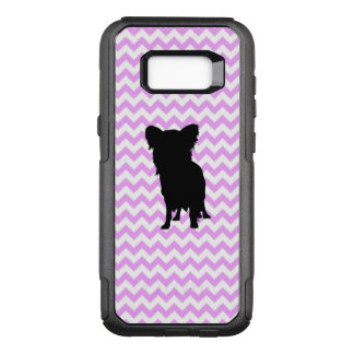 Pink Chevron With Yorkie Silhouette OtterBox Commuter Samsung Galaxy S8+ Case