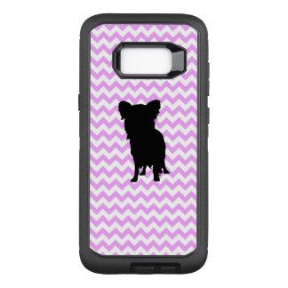 Pink Chevron With Yorkie Silhouette OtterBox Defender Samsung Galaxy S8+ Case