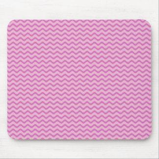 Pink Chevron Zig Zag Mouse Pad
